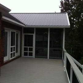 metal roof screened porch